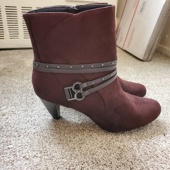 Shoes - Women's Brown Suede Ankle Boots